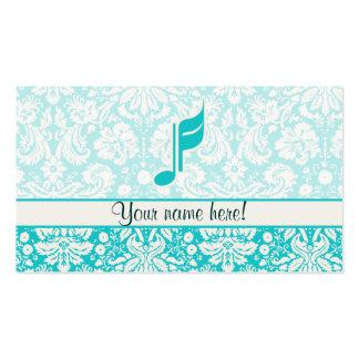 Nota de la música del trullo plantillas de tarjeta de negocio