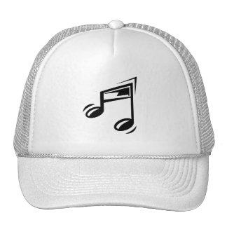 Nota de la música gorras