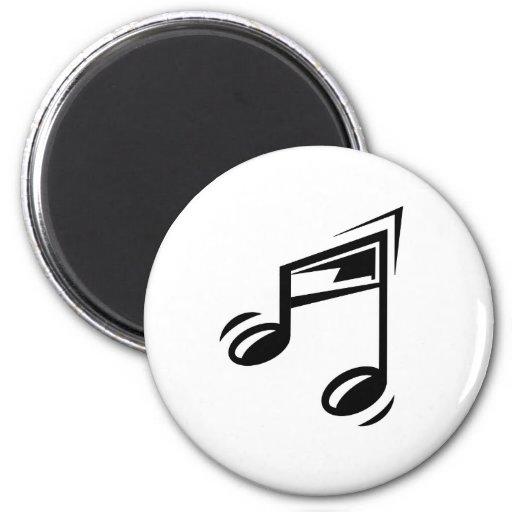 Nota de la música imán redondo 5 cm