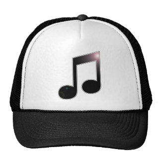 Nota de la música octava gorras de camionero