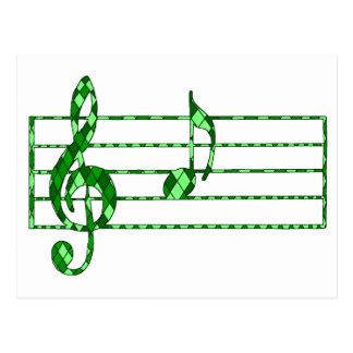 nota de la música postal