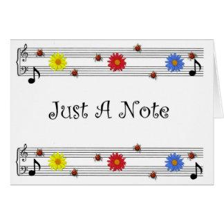 Nota de la música que piensa en usted tarjeta amp