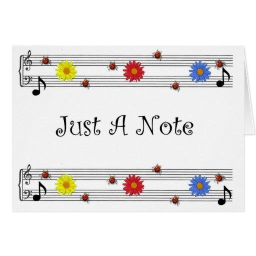 Nota de la música que piensa en usted tarjeta (amp