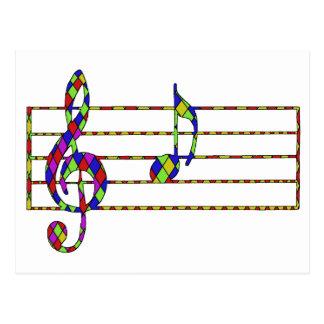 nota de la música tarjetas postales