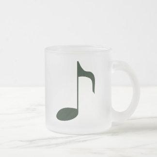 nota de la música taza de cristal