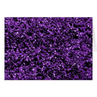Nota de la púrpura del brillo tarjeta pequeña