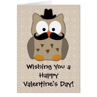 Nota de la tarjeta del día de San Valentín del búh