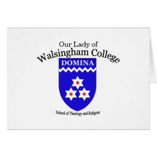 Nota de la universidad de Walsingham Tarjeta De Felicitación