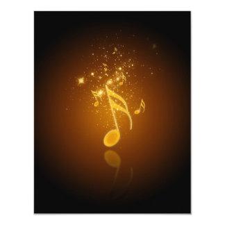 "Nota de moda fresca impresionante de la música de invitación 4.25"" x 5.5"""