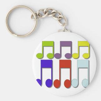 Nota de Musicial Llavero Redondo Tipo Pin
