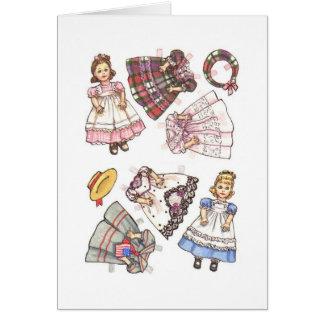 Nota de papel de la muñeca tarjeta pequeña