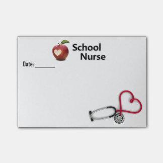 Nota de post-it de la enfermera de la escuela notas post-it