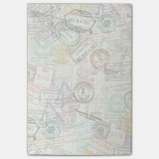Nota de post-it de la impresión del sello del notas post-it®