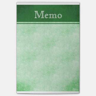 Nota de post-it de Texured del vintage: Verde Post-it® Notas