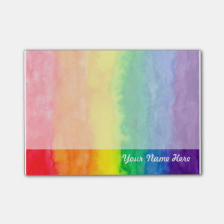 Nota de post-it del arco iris post-it nota