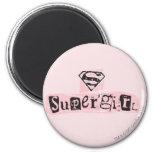 Nota de rescate del logotipo de Supergirl Iman De Frigorífico