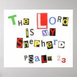 Nota de rescate del salmo 23 impresiones