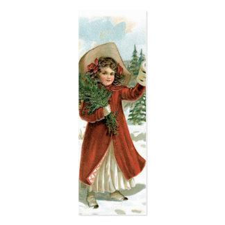 Nota del AMOR de Santa de la moda o etiqueta vieja Tarjetas De Visita Mini