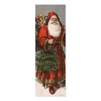 Nota del amor de Santa del vintage o etiqueta del  Plantillas De Tarjetas De Visita