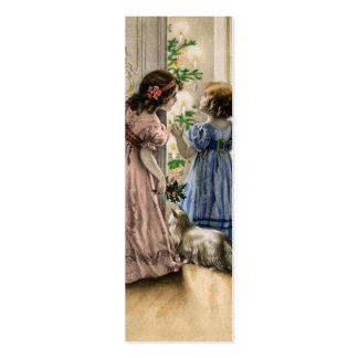 Nota del AMOR del navidad del vintage Tarjetas De Visita Mini