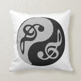 nota del clave de la música de yang del yin cojín