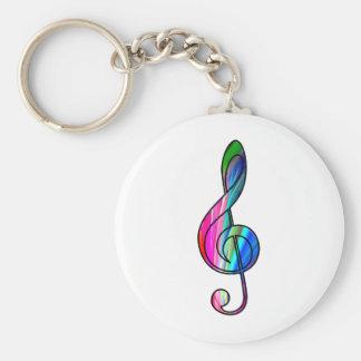 Nota del clef agudo en color_ llavero personalizado