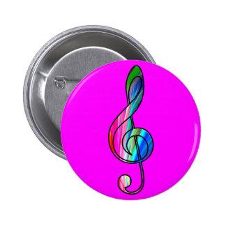 Nota del clef agudo en color_ pin