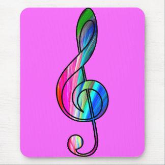 Nota del clef agudo en color_ alfombrilla de ratón