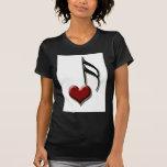 Nota del corazón camiseta