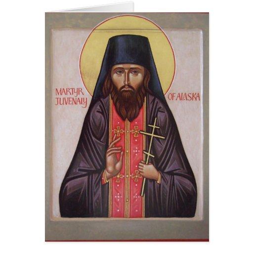 Nota del icono de St.Juvenaly Tarjeta Pequeña