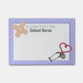 Nota del Poste-it® de la enfermera de la escuela Nota Post-it