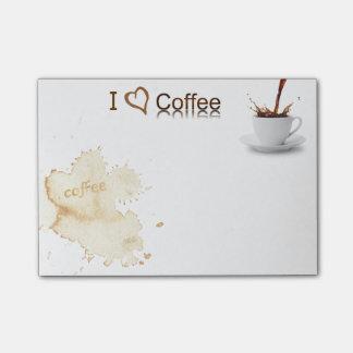 Nota del Poste-it® del amante certificado del café
