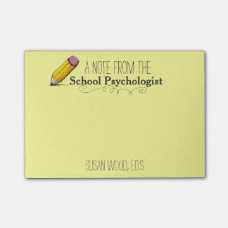 Nota del Poste-it® del psicólogo de encargo de la