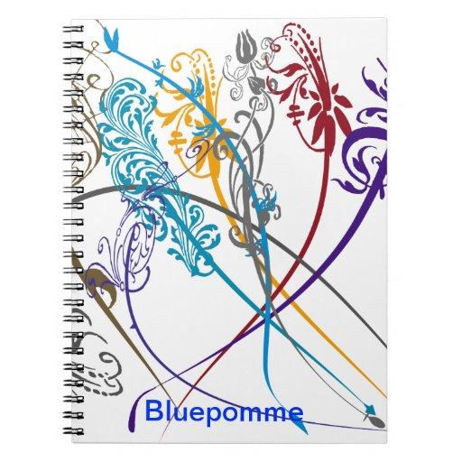Nota del remolino libros de apuntes con espiral