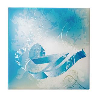 Nota dominante de la música azulejo cuadrado pequeño