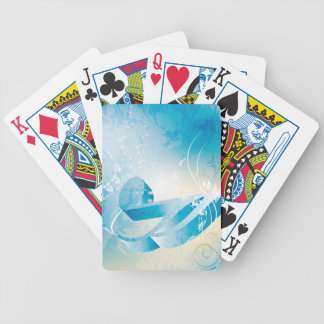 Nota dominante de la música barajas de cartas
