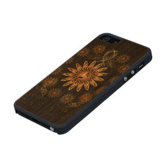 Nota dominante de la música funda de cerezo carved® para iPhone 5 slim