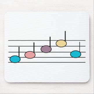 Nota en colores pastel Mousepad de la música Alfombrillas De Raton