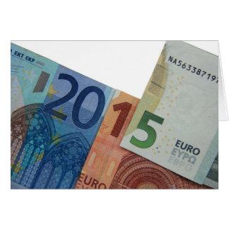 Nota feliz del euro 2015 tarjeta de felicitación