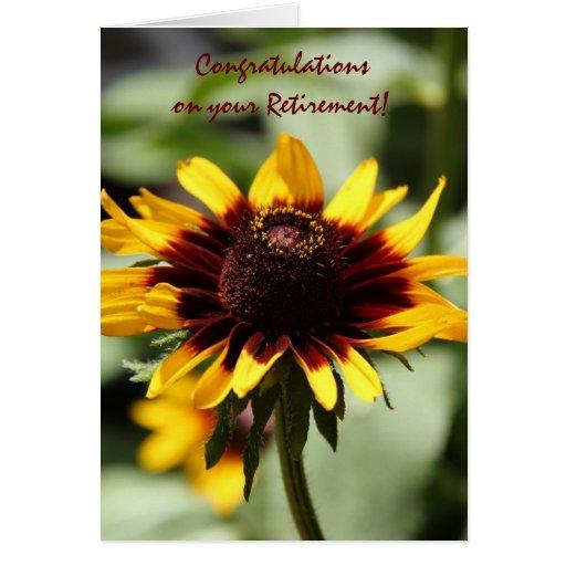 Nota floral, Coneflower amarillo, retiro Tarjeta De Felicitación