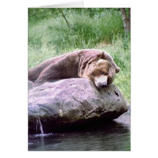 Nota ideal del oso de la piscina tarjeta de felicitación