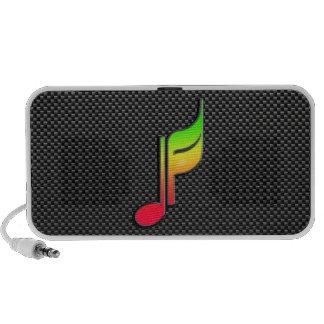 Nota lisa de la música laptop altavoces