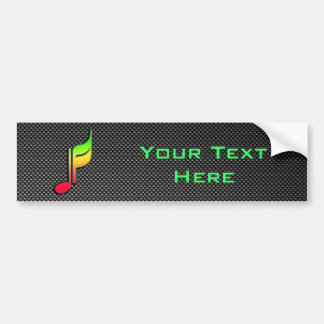 Nota lisa de la música etiqueta de parachoque