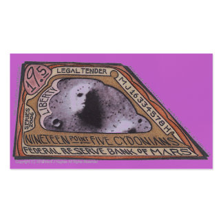 Nota marciana del dinero $19,5 CYDONIANS de MJ12cl Tarjeta De Visita