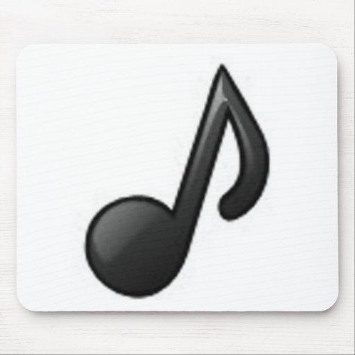 Nota musical alfombrillas de ratón