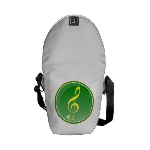 Nota musical bolsa de mensajería