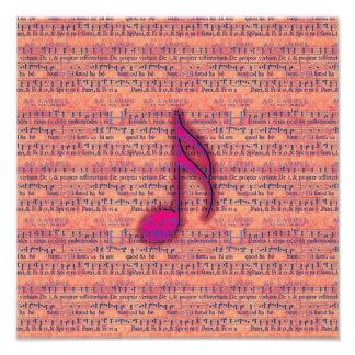 Nota musical de moda femenina sobre partitura fotografía
