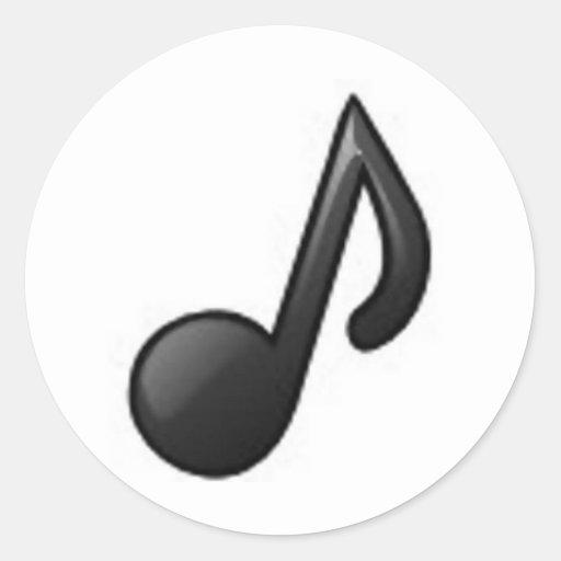 Nota musical pegatina redonda