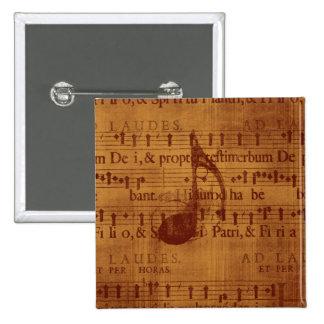Nota musical pin cuadrado