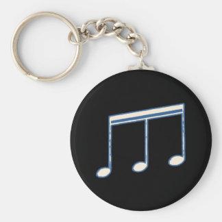 nota musical simple blanca llavero